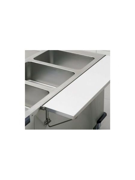 Option Tablette latérale inox rabattable largeur 24