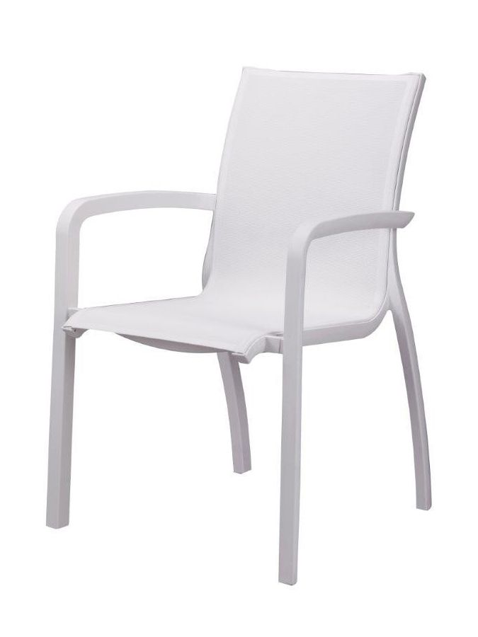 Fauteuil Sunset Blanc/toile Blanche