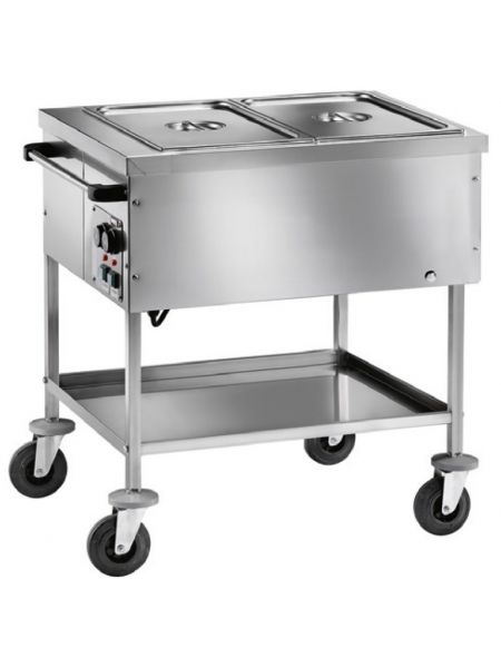 Chariot Bain-Marie Proself 2 cuves