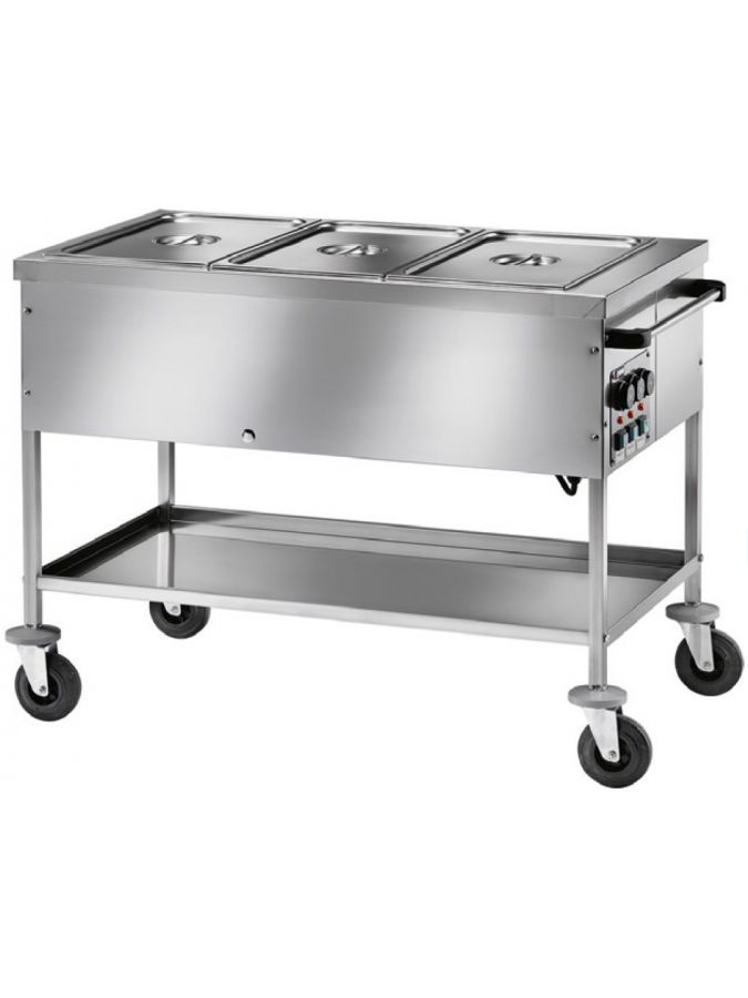Chariot Bain-Marie Proself 3 cuves