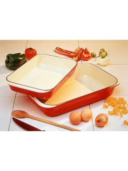 Plat Rectangle 'GM' Fonte culinaire 40X26 Rubis
