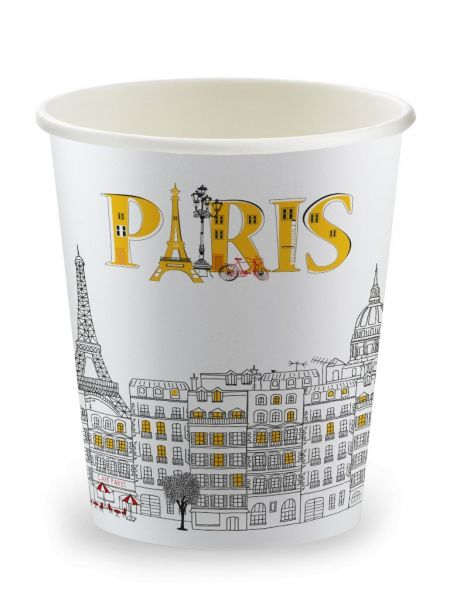 Gobelets Carton 'French Collection' 20cl Décor Paris Le Sachet de 100