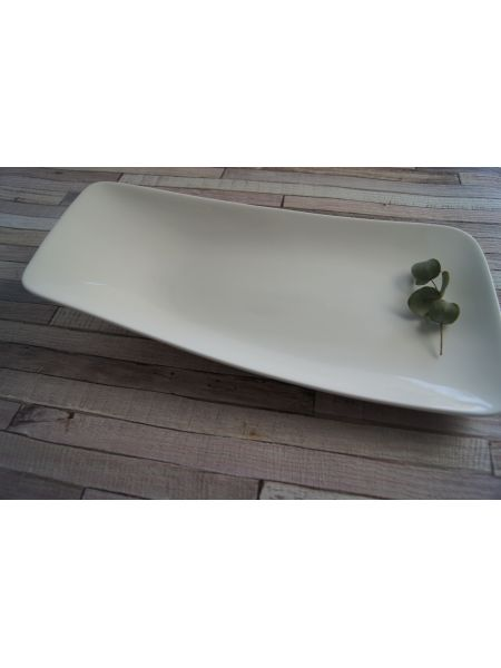 Assiette Rectangle 330X230 Gardenia