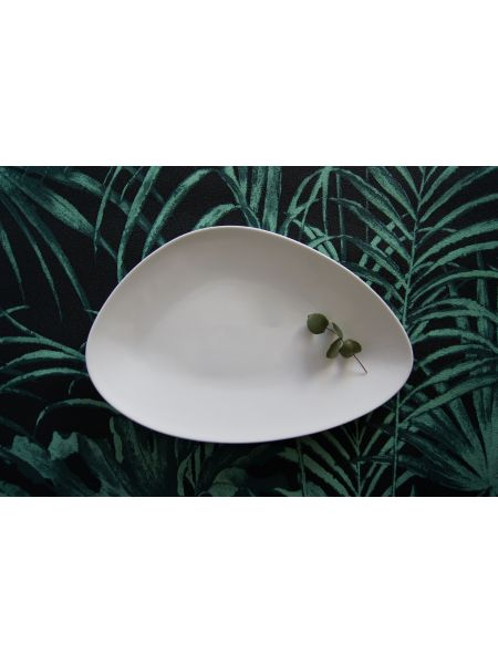 Assiette Triangle 290X190 Gardenia