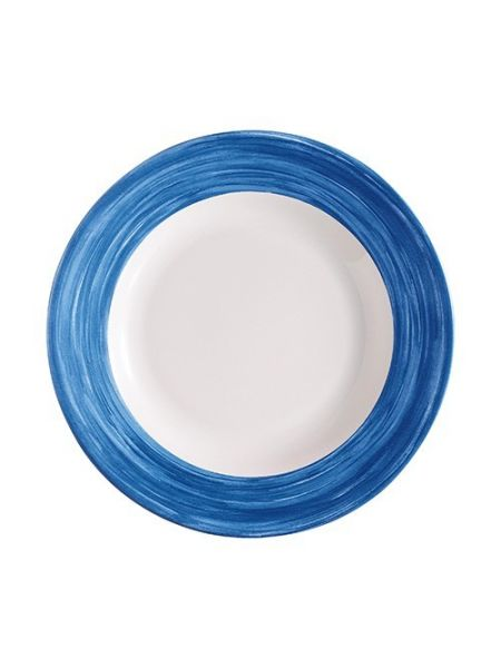 Assiette creuse Verre trempé - Brush Blue Jeans