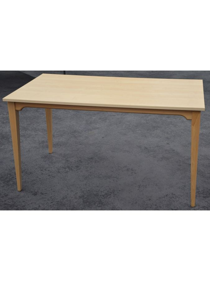 *OCCASION* Table 'CT10' 4 pieds 140X80 Hêtre Naturel