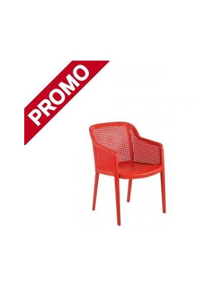 Fauteuil 'Antibes' Rouge
