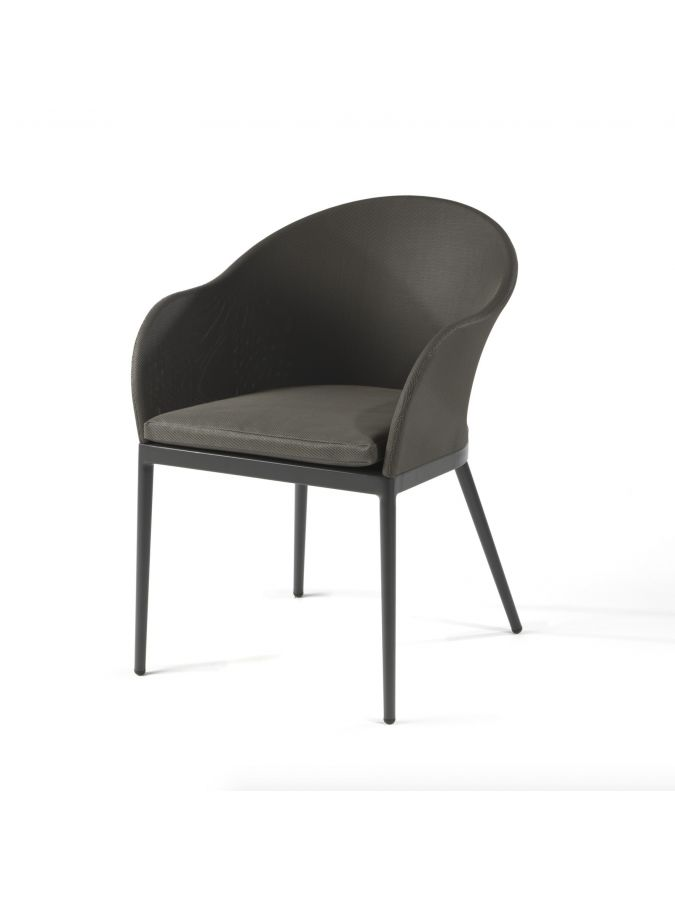 """Fauteuil """"Eve"""" + Coussin - Alu anthracite"""