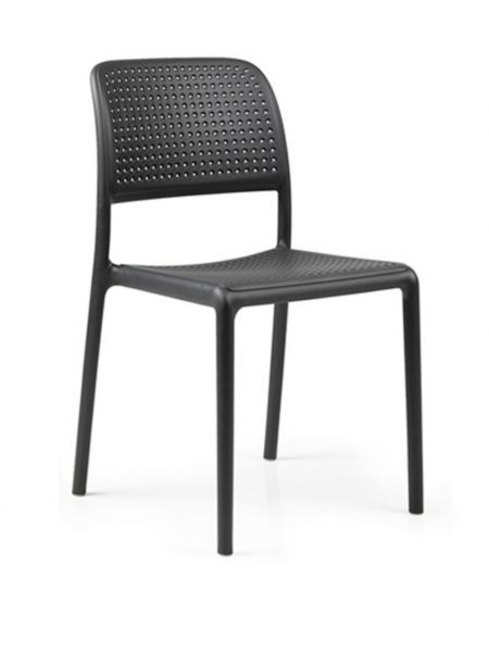 Chaise Bora Assise + Dos Perforés Anthracite