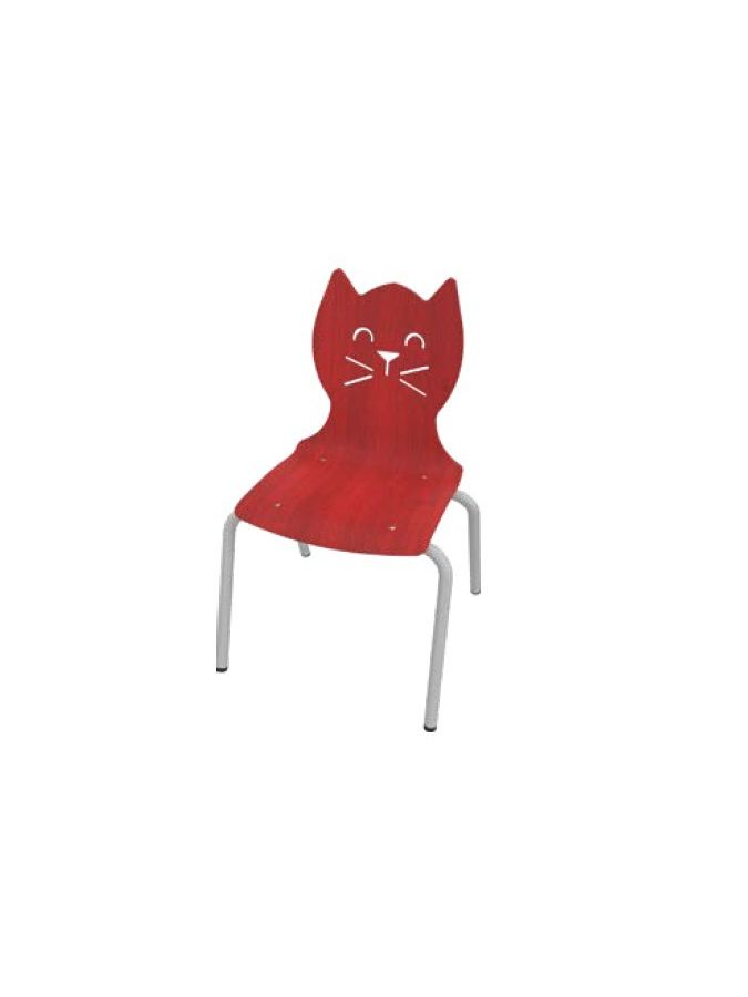 Chaise Chat Taille 3 Hêtre Naturel
