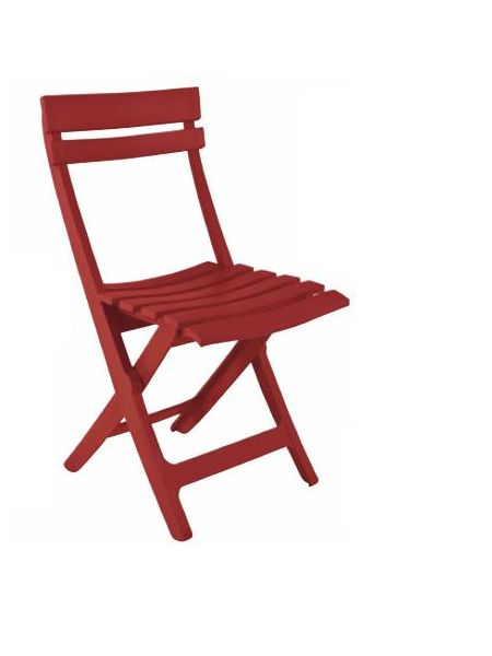 Chaise Square pliante Rouge