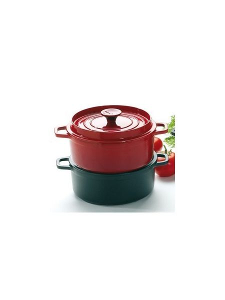 Cocotte Ronde Fonte culinaire ø20 Rubis