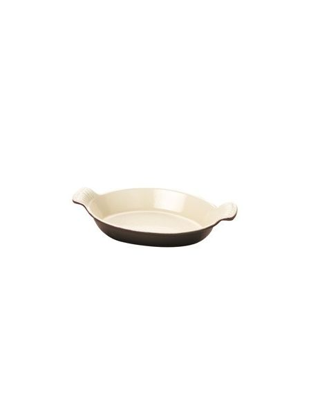Plat Ovale Fonte culinaire  L 20 cm Taupe
