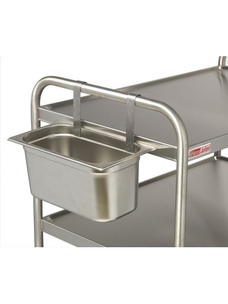 Support Bac Gastro GN1/3 pour chariots inox
