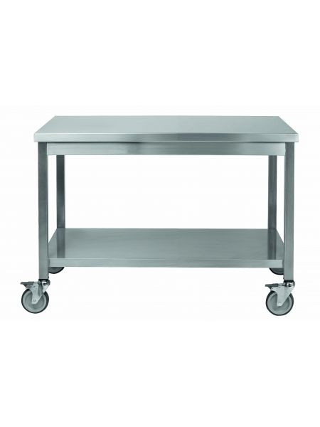 Table de Travail inox Centrale 1000X600 Mobile