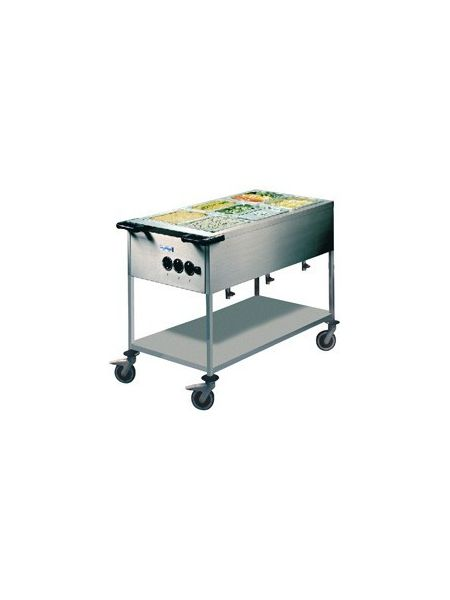 Chariot bain-marie 3 Gastros GN 1/1 - HUPFER