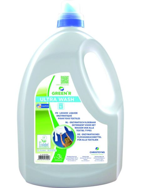 Lessive liquide Green'R Ultra Wash Ecolabel