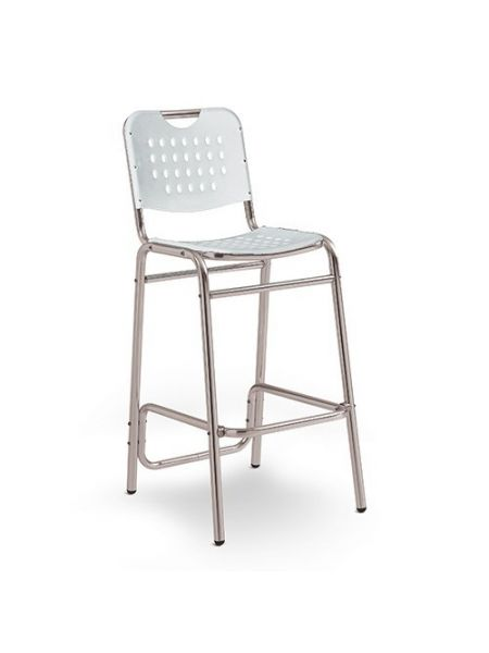 Tabouret city Blanc Empilable