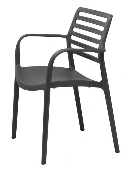 Fauteuil LOUISE GRIS ANTHRACITE