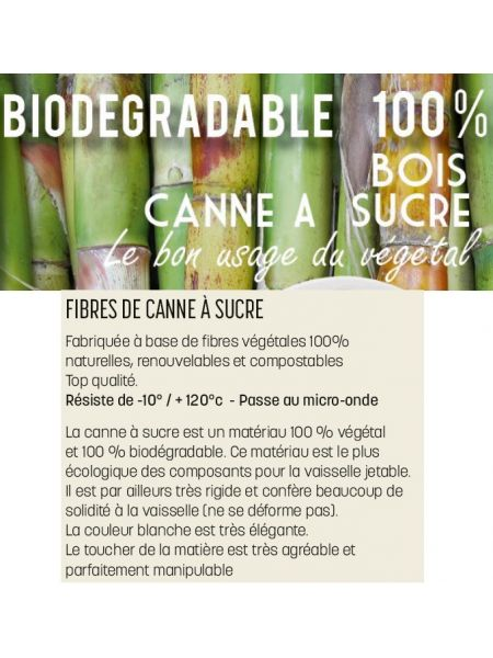 Coupelle ø150 Biodégradable Le Sachet de 50