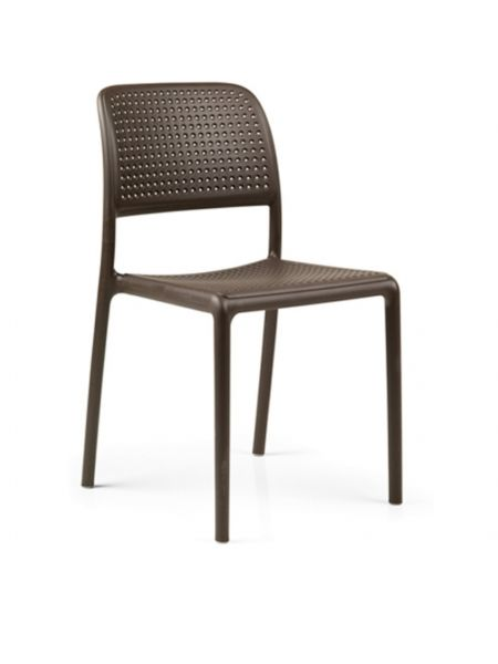 Chaise Bora Assise + Dos Perforés Café