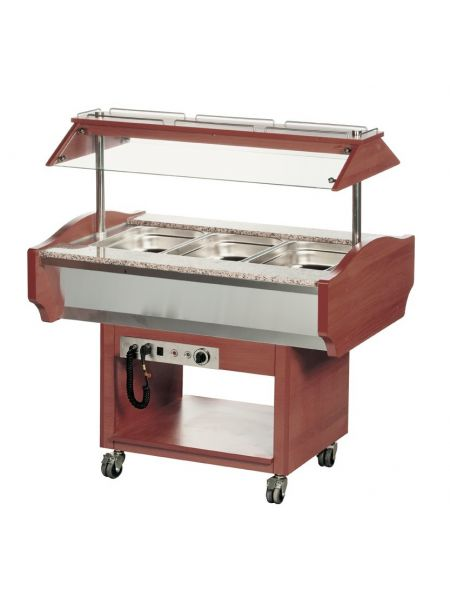 Chariot Buffet Chaud - 3 Gastro 1/1