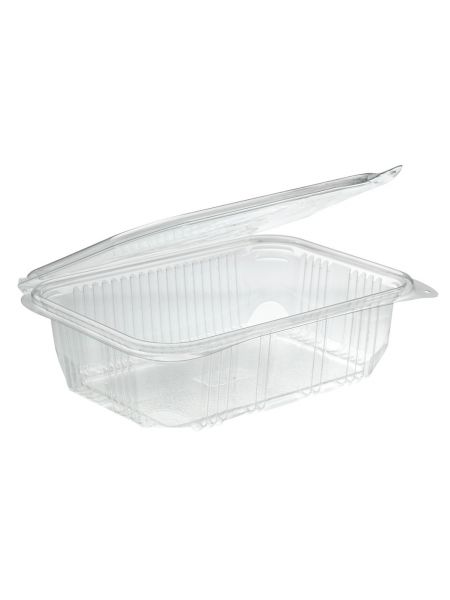 Barquette Rectangle Optipack avec couvercle 500g Carton de 600